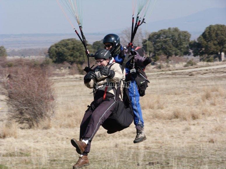 Aterrizaje en parapente
