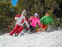 godendo lo sci di fondo a Grandvalira