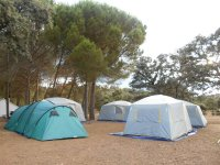 Tents in the open air