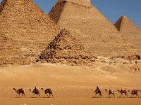 骑骆驼游沙漠探险家和他们的朋友