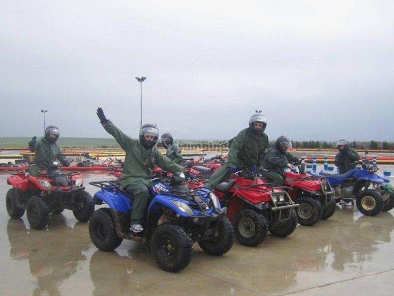 Cavalcando in quad