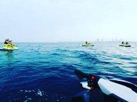 Motos de agua en el mar Mediterráneo