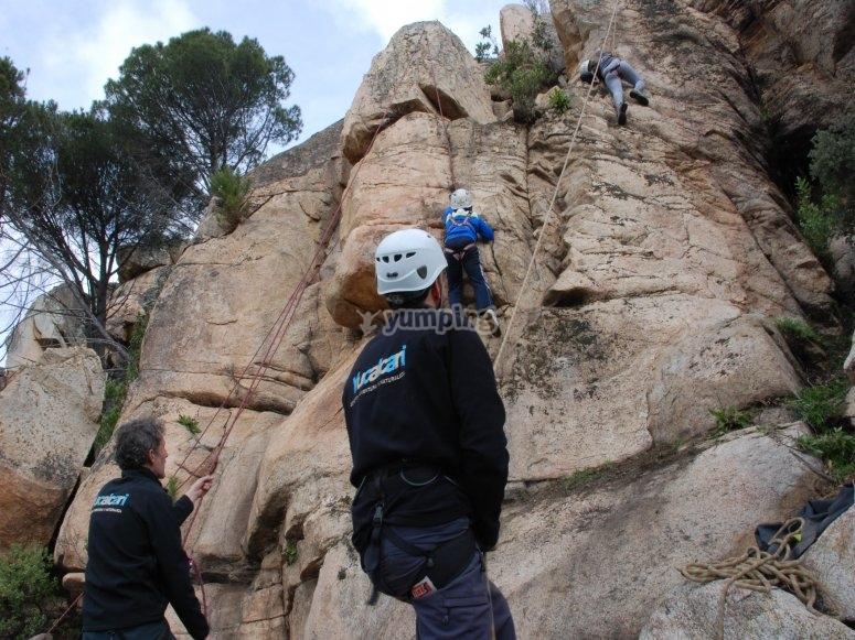 Climbing in Yucalcari
