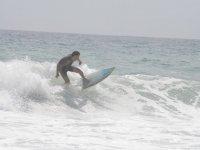 Surfeando en la costa almeriense