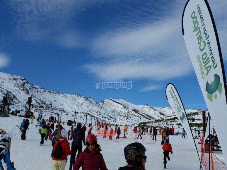 Winter sports in Alto Campoo