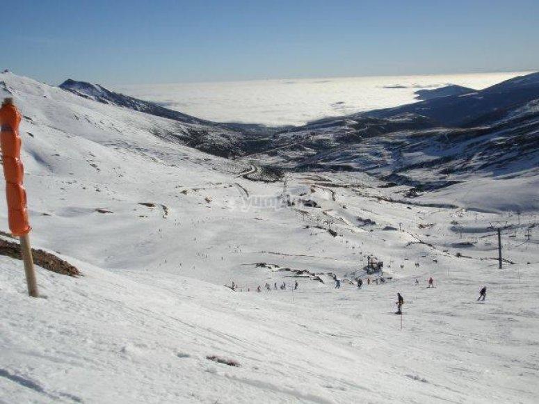 The ski station of Alto Campoo