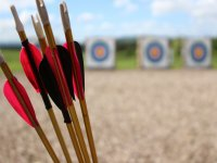 Flechas preparadas para el arco