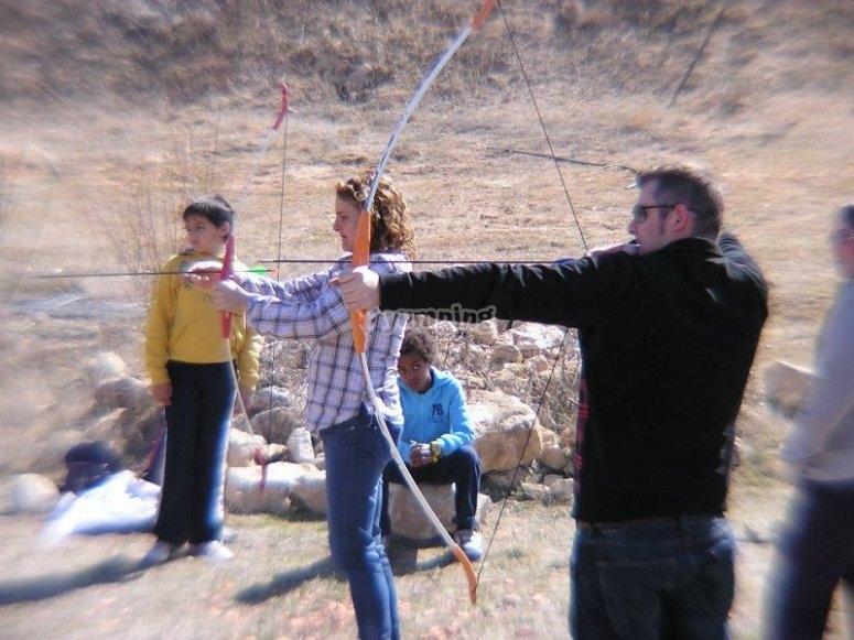 Praticare il tiro con l'arco