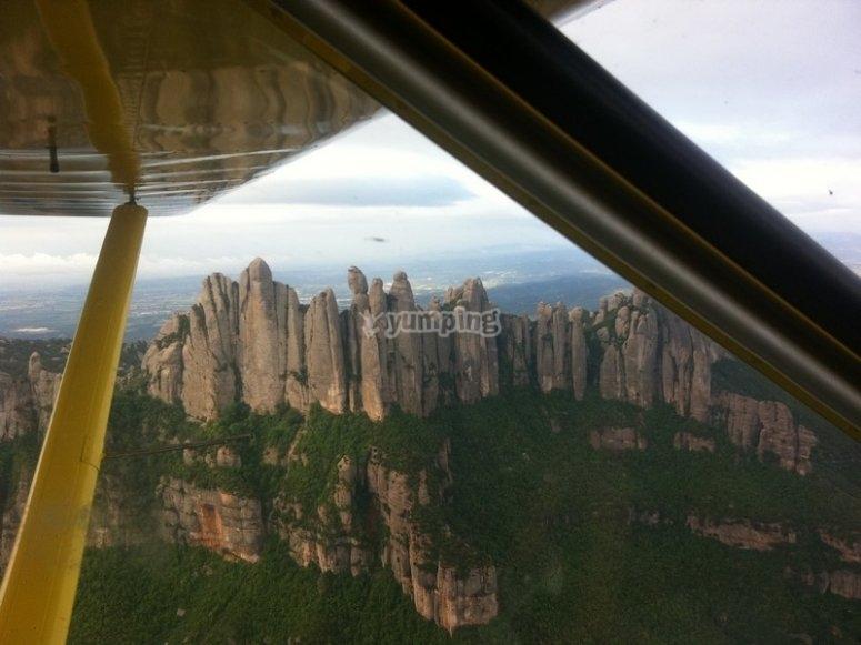Volando junto a Montserrat