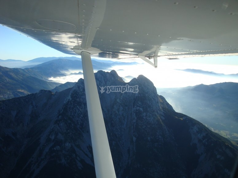 飞机上的视图