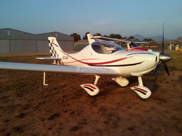 飞机在陆地上