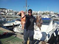 Parte de la pesca del dia