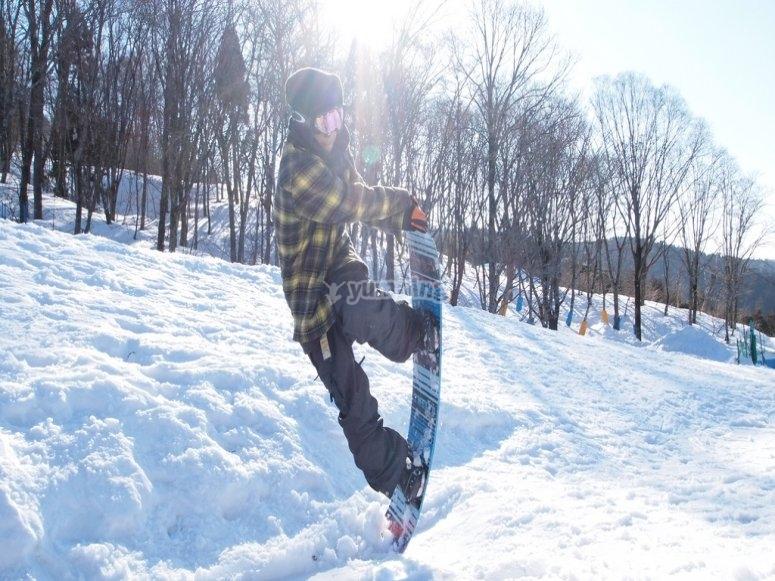 单板滑雪特技