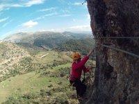 Via Ferrata of Atajate Easy level with photos