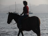 Horseback riding, one of our extra activities!