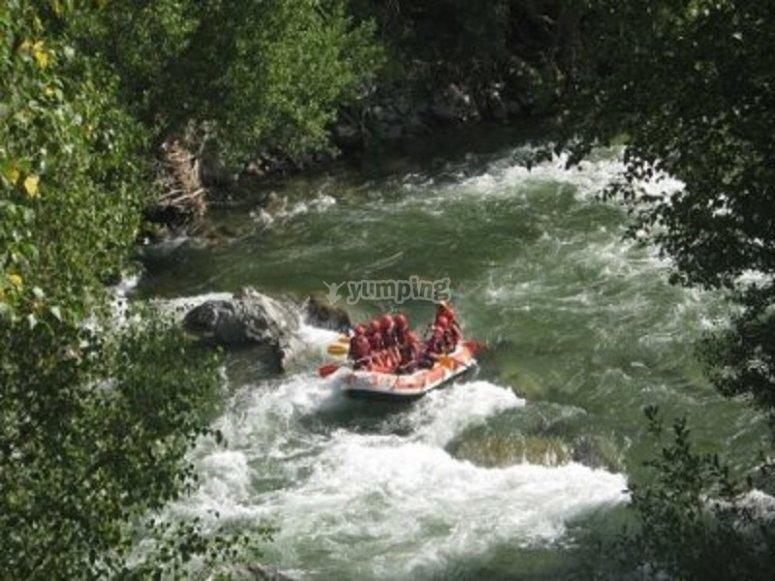 rafting campamento