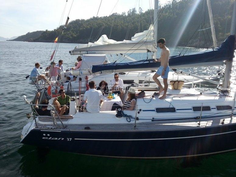 Celebrando a bordo