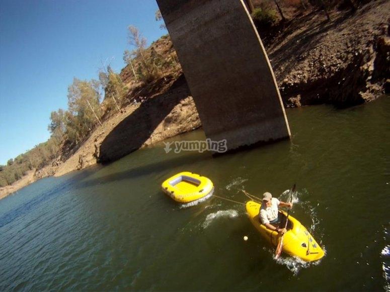 Recogida en el rio tras el salto