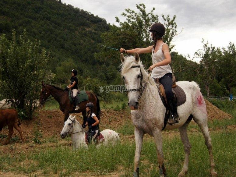 ruta caballo mano