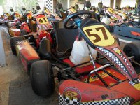 Karts prepared for the race