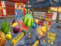 Realidad virtual samurai cortando fruta