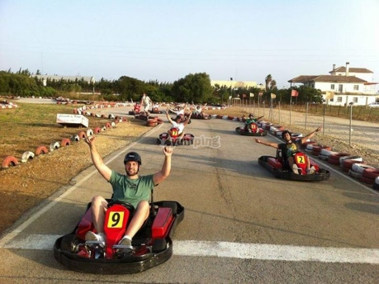 Victoria en karting
