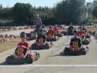 Parrilla de salida de karting