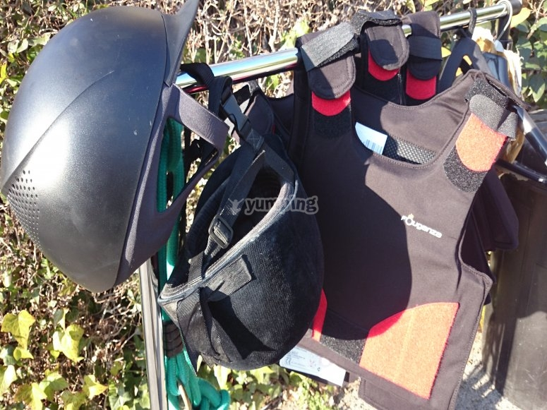 Helmets and protective vest