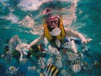 Practica snorkel y kayak