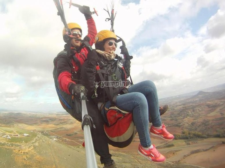 Volando con el instructor