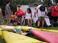 Praparándose para el kayak