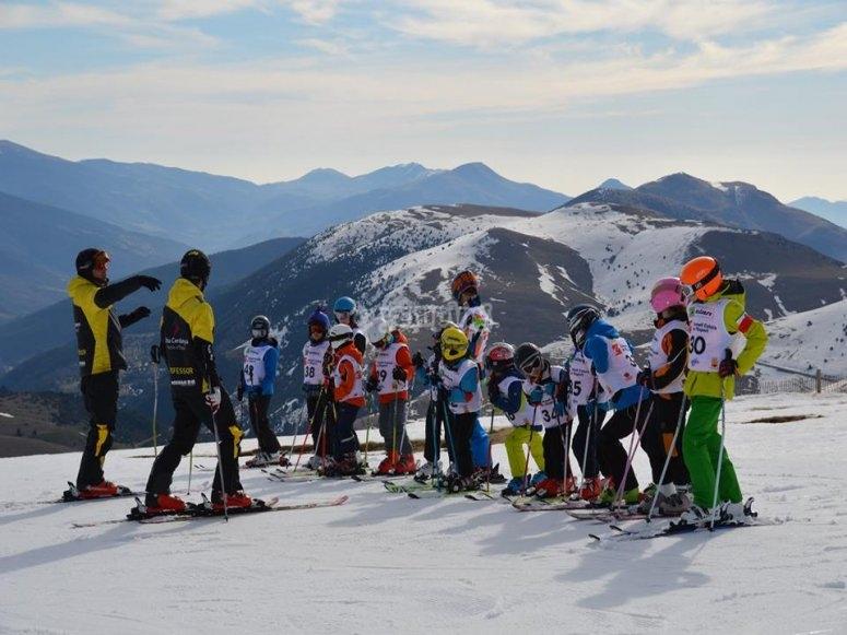 Esquiando en Masella