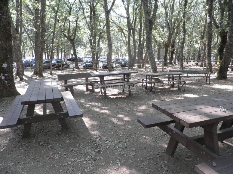 Mesas en el campo