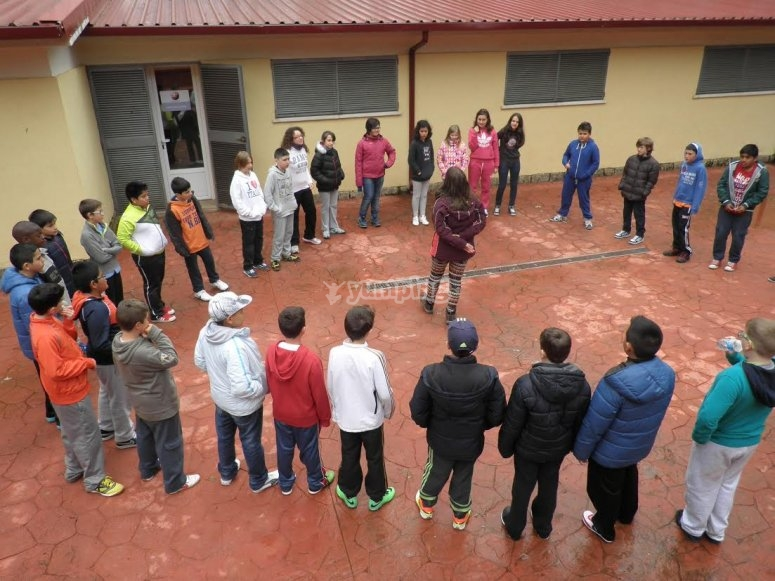 Jugando en circulo