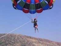 Parasailing in the Canaries