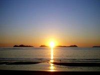 地平线上的太阳