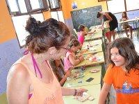 Alumna y monitora del campamento de Castellon