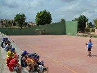 Badminton en el campamento