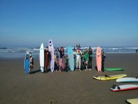 Children prepared for the surf course