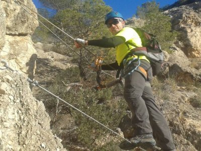 Initiatory via ferrata in Murcia + zip-line