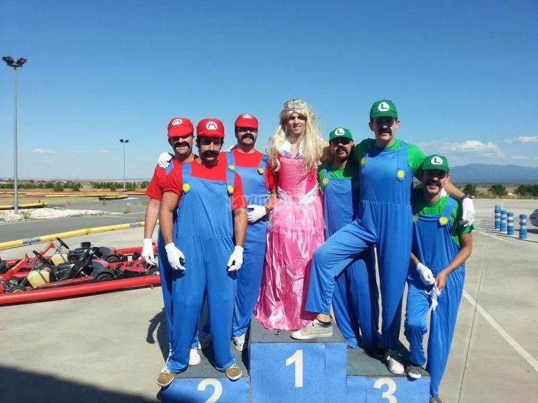 Mario Luigi y la Princesa