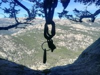 在La Pedriza攀岩