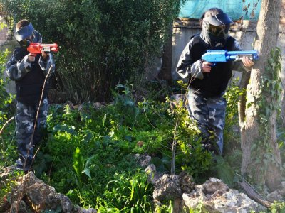 Paintball for kids in Málaga, 7 and older