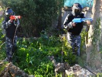Children playing paintball in Málaga