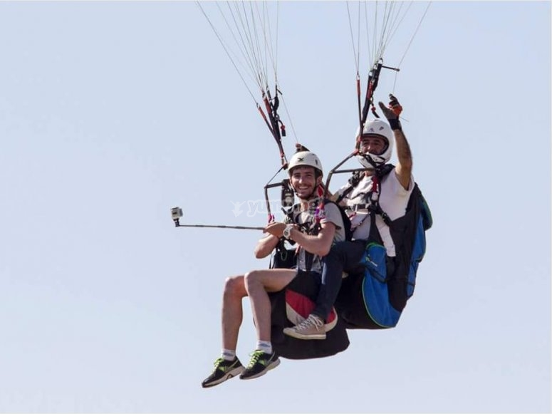 Overflying Algodonales with paraglide