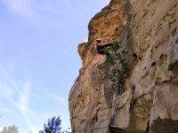 Descenso por roca