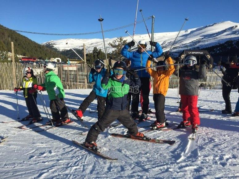 Practica esquí