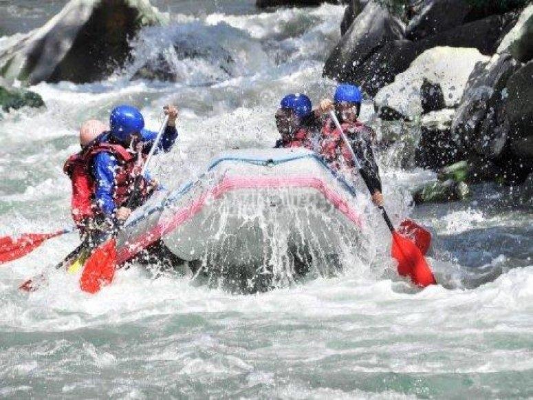 rafting en el Deva