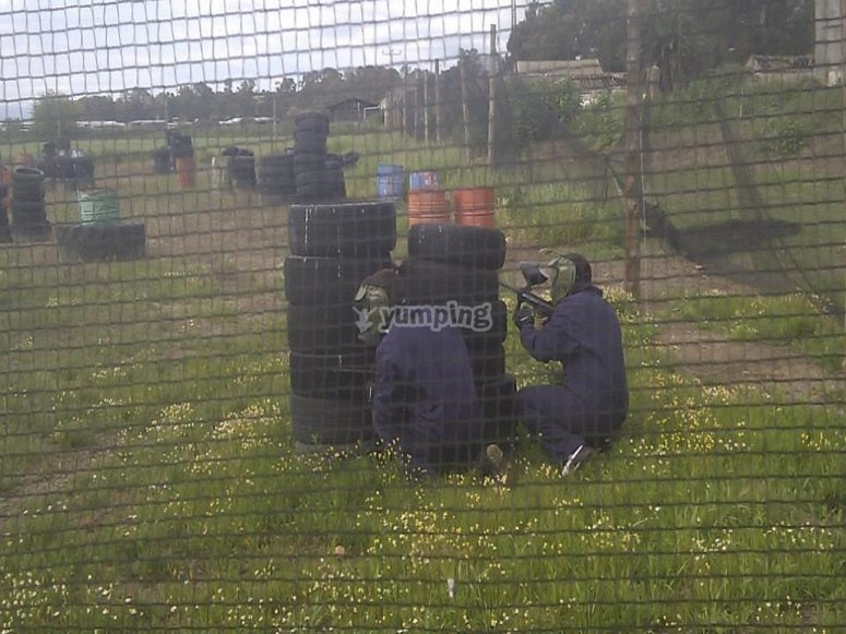 disparo paintball Talavera