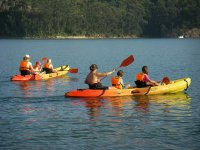 Compartiendo kayak con los peques